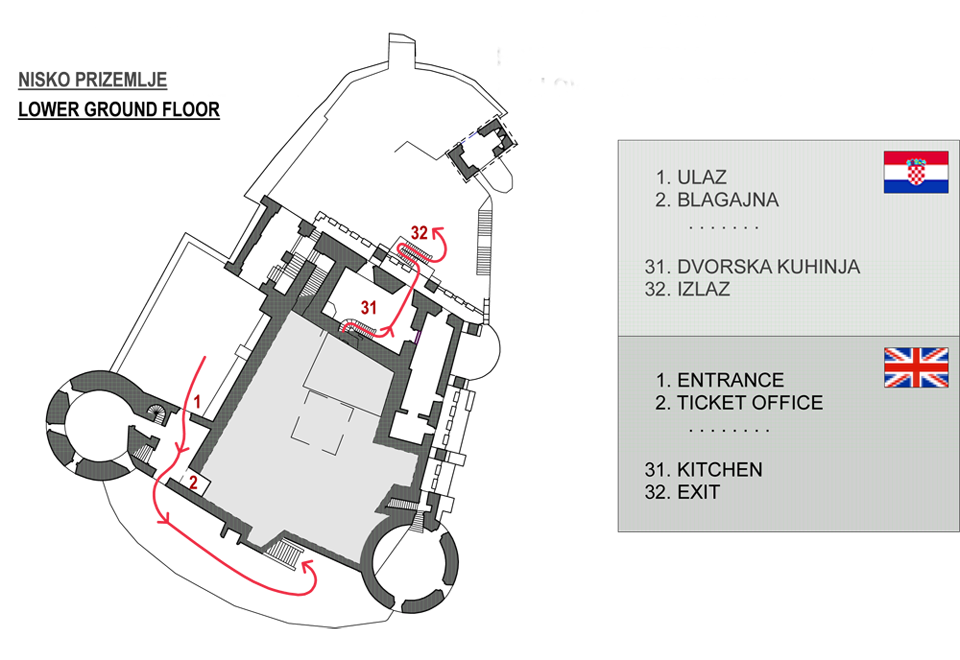 Nisko prizemlje - Ground plan